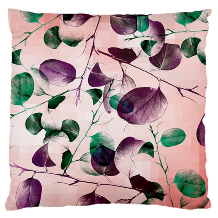 Spiral Eucalyptus Leaves Large Flano Cushion Case (One Side)