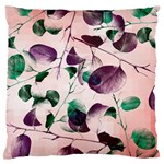 Spiral Eucalyptus Leaves Large Flano Cushion Case (Two Sides) Back