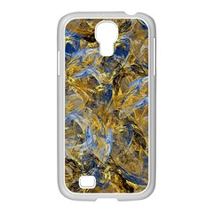 Antique Anciently Gold Blue Vintage Design Samsung Galaxy S4 I9500/ I9505 Case (white) by designworld65