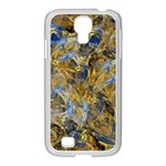 Antique Anciently Gold Blue Vintage Design Samsung GALAXY S4 I9500/ I9505 Case (White)