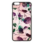 Spiral Eucalyptus Leaves Apple iPhone 6 Plus/6S Plus Black Enamel Case