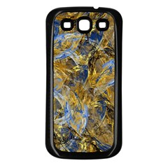 Antique Anciently Gold Blue Vintage Design Samsung Galaxy S3 Back Case (black) by designworld65