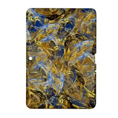 Antique Anciently Gold Blue Vintage Design Samsung Galaxy Tab 2 (10 1 ) P5100 Hardshell Case  by designworld65