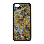 Antique Anciently Gold Blue Vintage Design Apple iPhone 5C Seamless Case (Black)