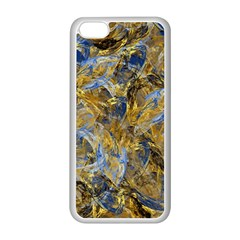 Antique Anciently Gold Blue Vintage Design Apple Iphone 5c Seamless Case (white) by designworld65