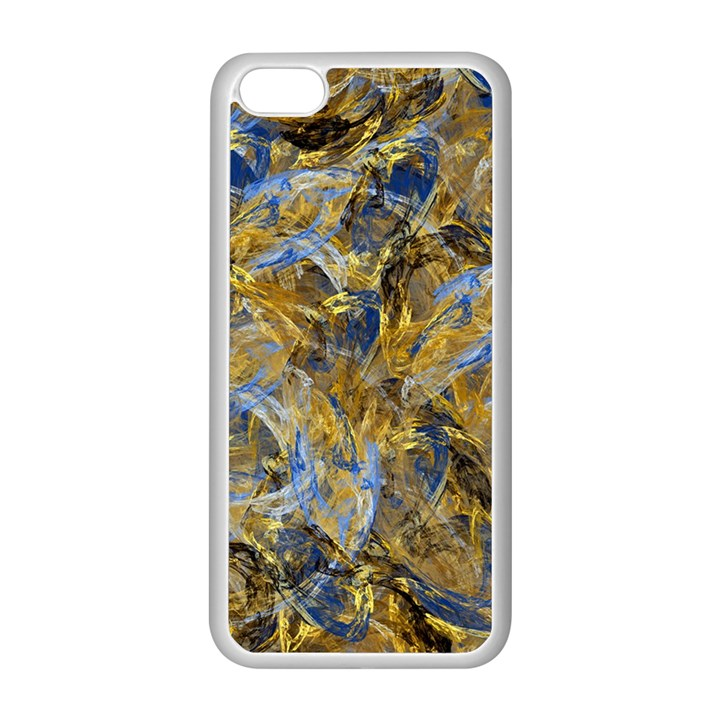 Antique Anciently Gold Blue Vintage Design Apple iPhone 5C Seamless Case (White)