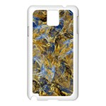 Antique Anciently Gold Blue Vintage Design Samsung Galaxy Note 3 N9005 Case (White)