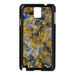 Antique Anciently Gold Blue Vintage Design Samsung Galaxy Note 3 N9005 Case (black) by designworld65