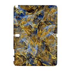 Antique Anciently Gold Blue Vintage Design Samsung Galaxy Note 10 1 (p600) Hardshell Case by designworld65