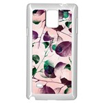 Spiral Eucalyptus Leaves Samsung Galaxy Note 4 Case (White)
