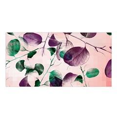 Spiral Eucalyptus Leaves Satin Shawl by DanaeStudio