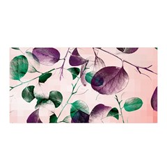 Spiral Eucalyptus Leaves Satin Wrap by DanaeStudio