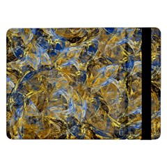 Antique Anciently Gold Blue Vintage Design Samsung Galaxy Tab Pro 12 2  Flip Case by designworld65