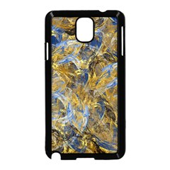 Antique Anciently Gold Blue Vintage Design Samsung Galaxy Note 3 Neo Hardshell Case (black) by designworld65