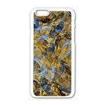 Antique Anciently Gold Blue Vintage Design Apple iPhone 6/6S White Enamel Case