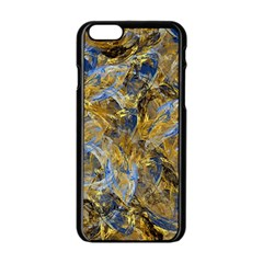 Antique Anciently Gold Blue Vintage Design Apple Iphone 6/6s Black Enamel Case by designworld65