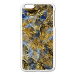 Antique Anciently Gold Blue Vintage Design Apple iPhone 6 Plus/6S Plus Enamel White Case