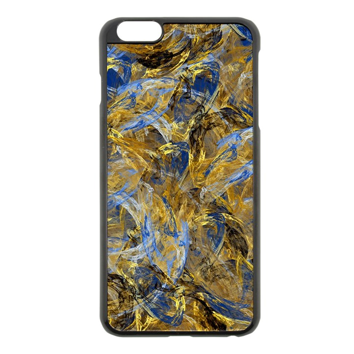 Antique Anciently Gold Blue Vintage Design Apple iPhone 6 Plus/6S Plus Black Enamel Case