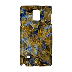 Antique Anciently Gold Blue Vintage Design Samsung Galaxy Note 4 Hardshell Case by designworld65