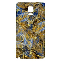 Antique Anciently Gold Blue Vintage Design Galaxy Note 4 Back Case by designworld65