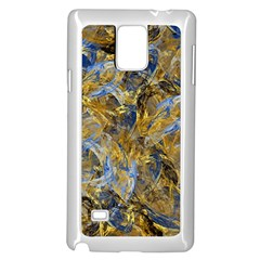 Antique Anciently Gold Blue Vintage Design Samsung Galaxy Note 4 Case (white) by designworld65