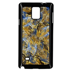 Antique Anciently Gold Blue Vintage Design Samsung Galaxy Note 4 Case (black) by designworld65