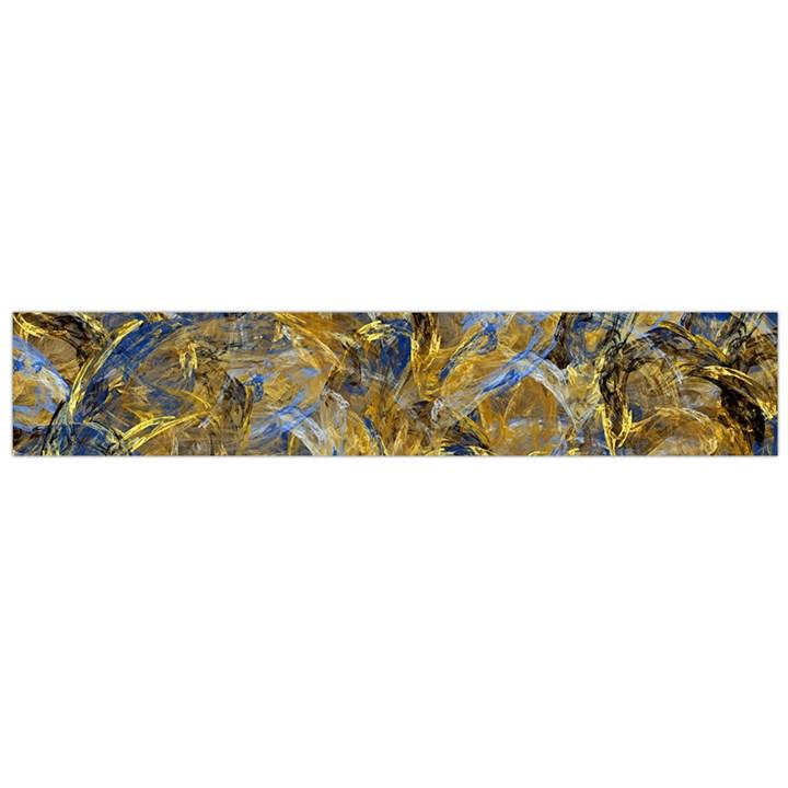 Antique Anciently Gold Blue Vintage Design Flano Scarf (Large)
