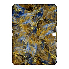 Antique Anciently Gold Blue Vintage Design Samsung Galaxy Tab 4 (10 1 ) Hardshell Case  by designworld65