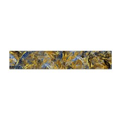 Antique Anciently Gold Blue Vintage Design Flano Scarf (mini) by designworld65