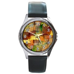Indian Summer Funny Check Round Metal Watch by designworld65
