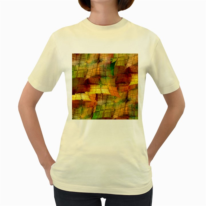 Indian Summer Funny Check Women s Yellow T-Shirt