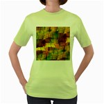 Indian Summer Funny Check Women s Green T-Shirt
