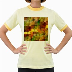 Indian Summer Funny Check Women s Fitted Ringer T Shirts by designworld65