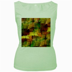Indian Summer Funny Check Women s Green Tank Top