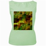 Indian Summer Funny Check Women s Green Tank Top Front