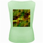 Indian Summer Funny Check Women s Green Tank Top Back