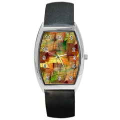 Indian Summer Funny Check Barrel Style Metal Watch by designworld65