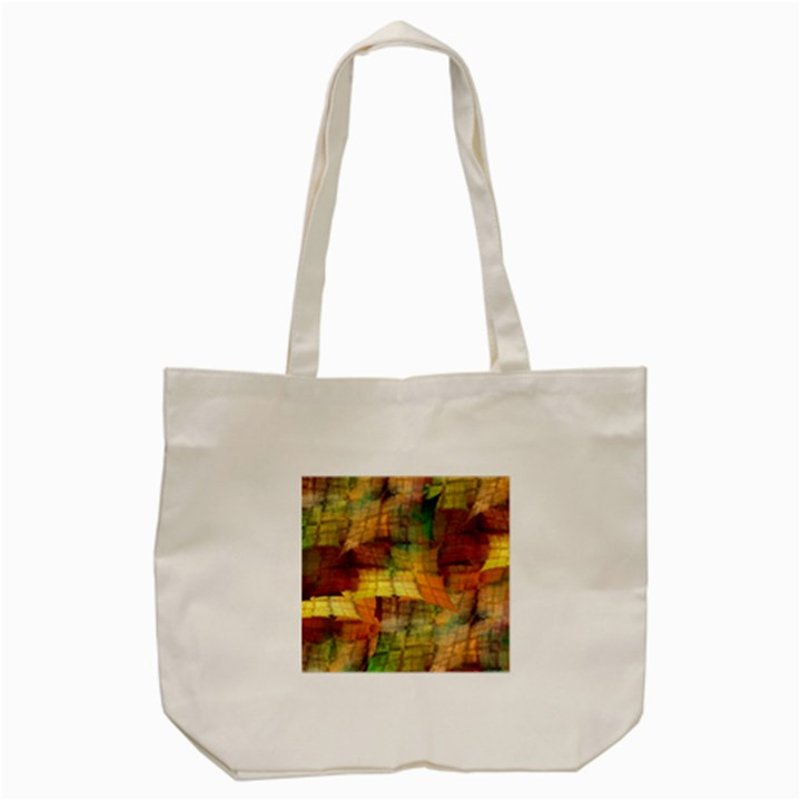 Indian Summer Funny Check Tote Bag (Cream)