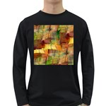 Indian Summer Funny Check Long Sleeve Dark T-Shirts Front