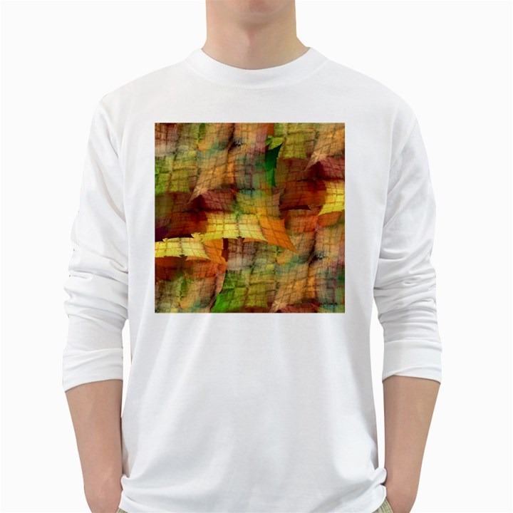 Indian Summer Funny Check White Long Sleeve T-Shirts