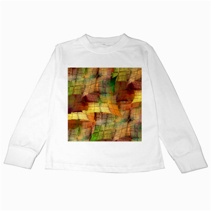 Indian Summer Funny Check Kids Long Sleeve T-Shirts