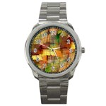 Indian Summer Funny Check Sport Metal Watch Front