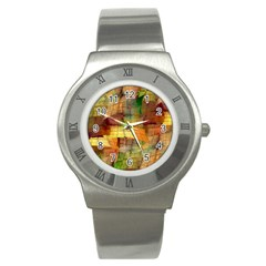 Indian Summer Funny Check Stainless Steel Watch by designworld65