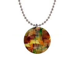 Indian Summer Funny Check Button Necklaces by designworld65