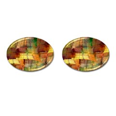 Indian Summer Funny Check Cufflinks (oval) by designworld65