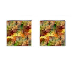 Indian Summer Funny Check Cufflinks (square) by designworld65