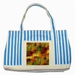 Indian Summer Funny Check Striped Blue Tote Bag by designworld65