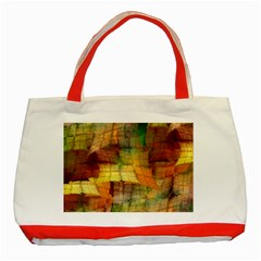 Indian Summer Funny Check Classic Tote Bag (red) by designworld65