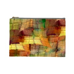 Indian Summer Funny Check Cosmetic Bag (large)  by designworld65