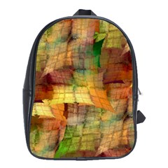 Indian Summer Funny Check School Bags(large)  by designworld65